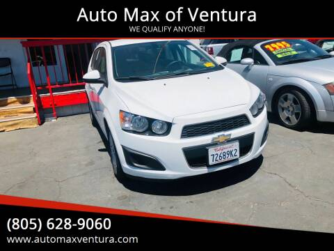 2015 Chevrolet Sonic for sale at Auto Max of Ventura in Ventura CA