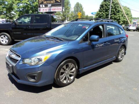 2012 Subaru Impreza for sale at BATTENKILL MOTORS in Greenwich NY