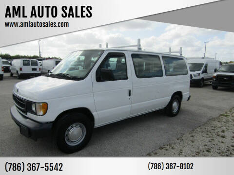 2002 Ford E-Series Cargo for sale at AML AUTO SALES - Cargo Vans in Opa-Locka FL