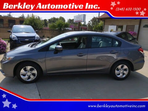 2015 Honda Civic for sale at Berkley Automotive Inc. in Berkley MI