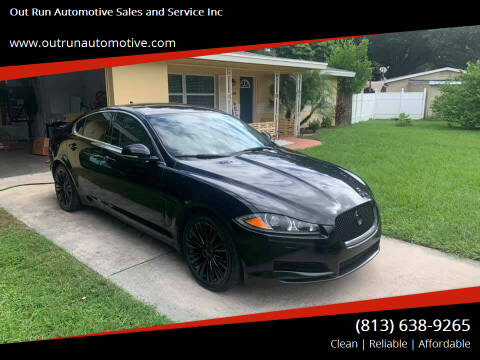 2013 Jaguar XF for sale at Out Run Automotive Sales and Service Inc in Tampa FL