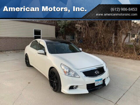 2012 Infiniti G37 Sedan for sale at American Motors, Inc. in Farmington MN