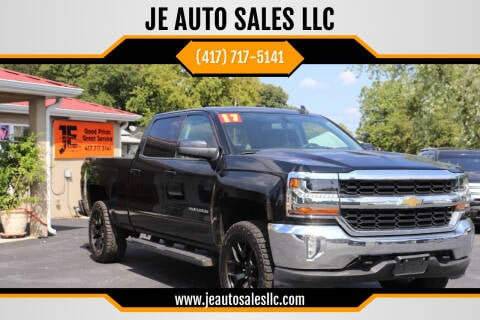 2017 Chevrolet Silverado 1500 for sale at JE AUTO SALES LLC in Webb City MO