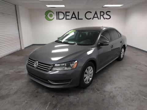 2013 Volkswagen Passat for sale at Ideal Cars Broadway in Mesa AZ