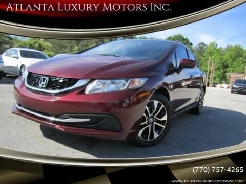 2014 Honda Civic for sale at Atlanta Luxury Motors Inc. in Buford GA