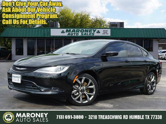 2015 Chrysler 200 for sale at Maroney Auto Sales in Humble TX
