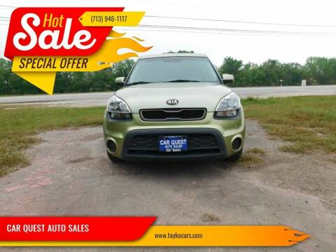 2013 Kia Soul for sale at CAR QUEST AUTO SALES in Houston TX