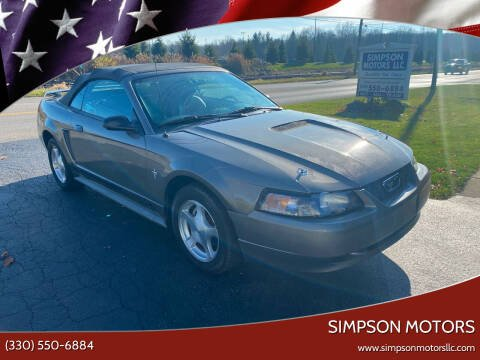 2001 Ford Mustang for sale at SIMPSON MOTORS in Youngstown OH