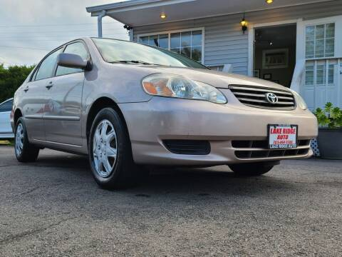 2003 Toyota Corolla for sale at Lake Ridge Auto Sales in Woodbridge VA