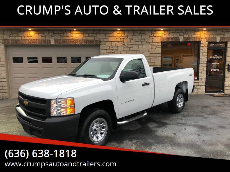 2012 Chevrolet Silverado 1500 for sale at CRUMP'S AUTO & TRAILER SALES in Crystal City MO