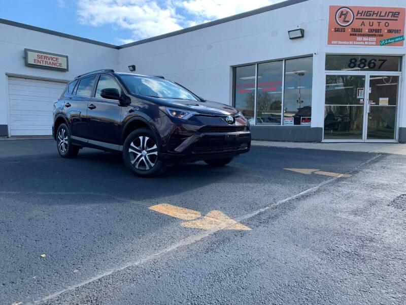 2017 Toyota RAV4 for sale at HIGHLINE AUTO LLC in Kenosha WI