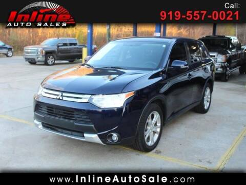 2015 Mitsubishi Outlander for sale at Inline Auto Sales in Fuquay Varina NC