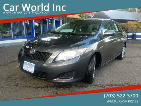 2009 Toyota Corolla for sale at Car World Inc in Arlington VA