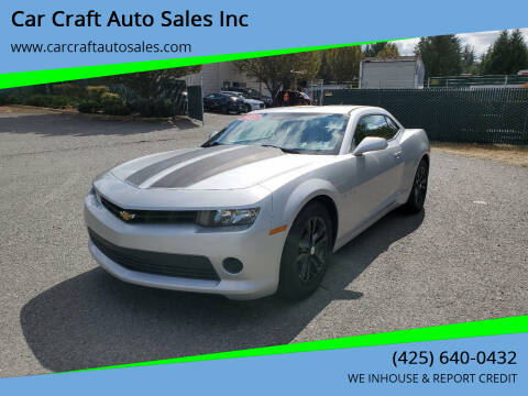 2015 Chevrolet Camaro for sale at Car Craft Auto Sales Inc in Lynnwood WA