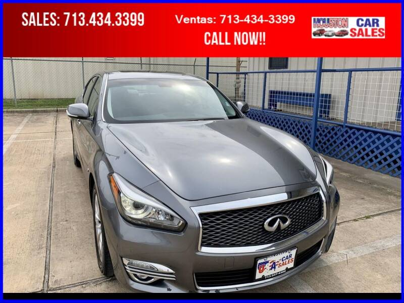2018 Infiniti Q70 for sale at HOUSTON CAR SALES INC in Houston TX