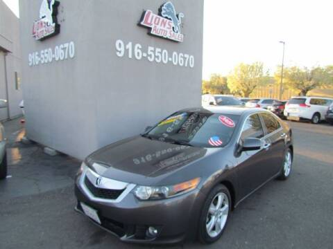 2009 Acura TSX for sale at LIONS AUTO SALES in Sacramento CA