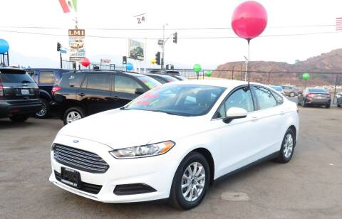 2016 Ford Fusion for sale at Luxor Motors Inc in Pacoima CA