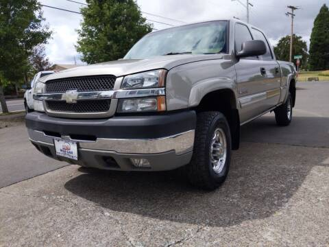 2003 Chevrolet Silverado 2500HD for sale at M AND S CAR SALES LLC in Independence OR