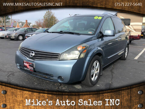 2008 Nissan Quest for sale at Mike's Auto Sales INC in Chesapeake VA