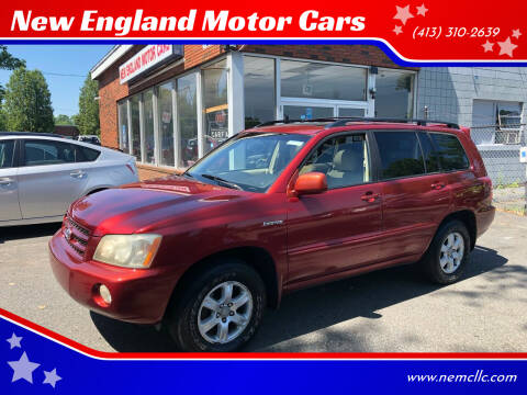 2002 Toyota Highlander for sale at New England Motor Cars in Springfield MA