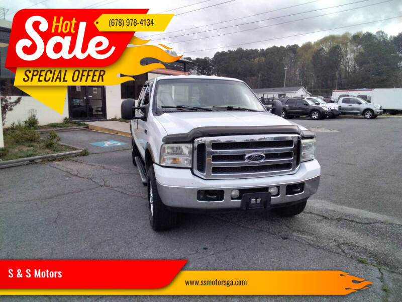 2006 Ford F-250 Super Duty for sale at S & S Motors in Marietta GA