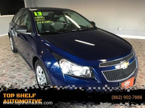 2013 Chevrolet Cruze for sale at TOP SHELF AUTOMOTIVE in Newark NJ
