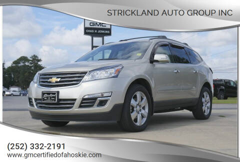 2016 Chevrolet Traverse for sale at STRICKLAND AUTO GROUP INC in Ahoskie NC