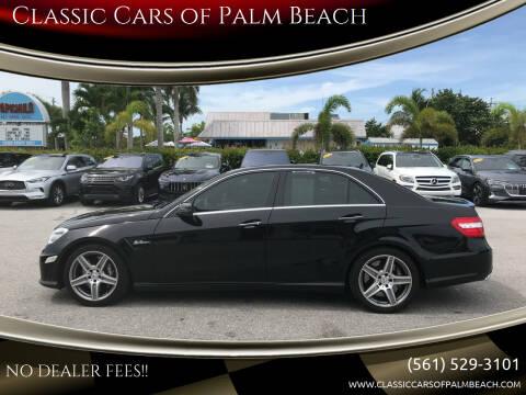 2010 Mercedes-Benz E-Class for sale at Classic Cars of Palm Beach in Jupiter FL