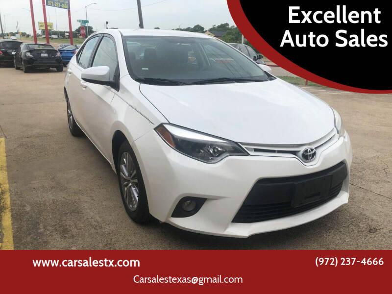 2014 Toyota Corolla for sale at Excellent Auto Sales in Grand Prairie TX