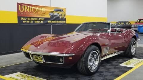 1969 Chevrolet Corvette for sale at UNIQUE SPECIALTY & CLASSICS in Mankato MN