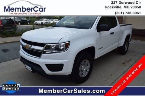 2016 Chevrolet Colorado for sale at MemberCar in Rockville MD
