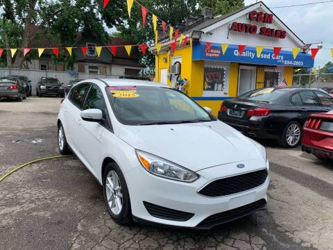 2015 Ford Focus for sale at C & M Auto Sales in Detroit MI