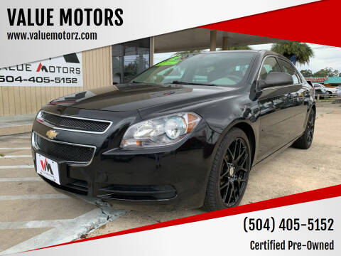 2012 Chevrolet Malibu for sale at VALUE MOTORS in Kenner LA