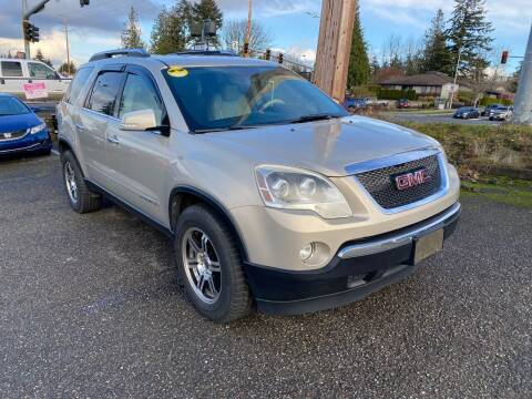 2007 GMC Acadia for sale at KARMA AUTO SALES in Federal Way WA