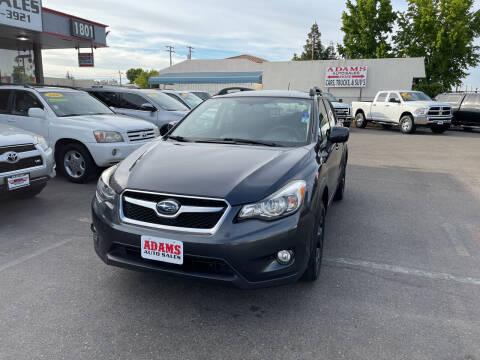 2013 Subaru XV Crosstrek for sale at Adams Auto Sales in Sacramento CA