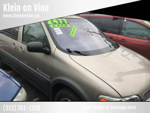 2000 Pontiac Montana for sale at Klein on Vine in Cincinnati OH
