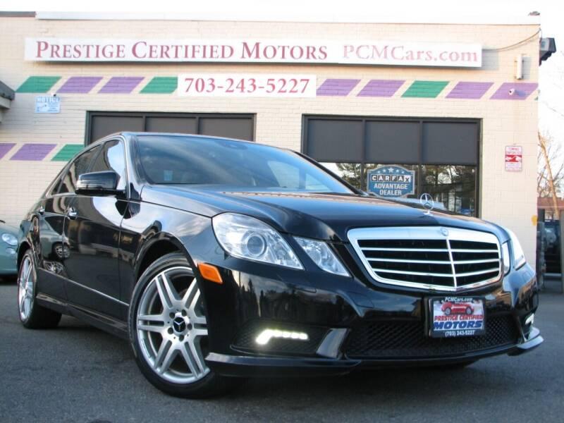 2010 Mercedes-Benz E-Class for sale at Prestige Certified Motors in Falls Church VA