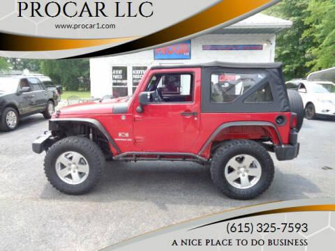 2009 Jeep Wrangler for sale at PROCAR LLC in Portland TN