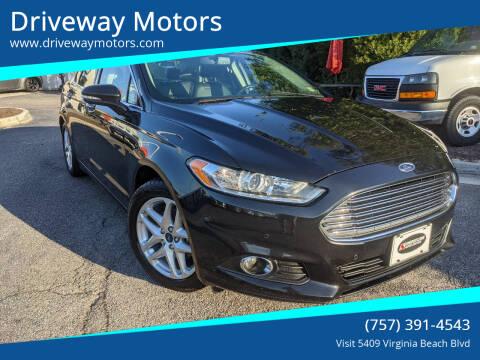 2015 Ford Fusion for sale at Driveway Motors in Virginia Beach VA