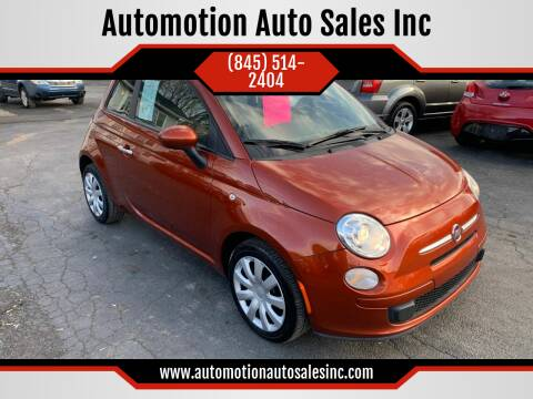2012 FIAT 500 for sale at Automotion Auto Sales Inc in Kingston NY