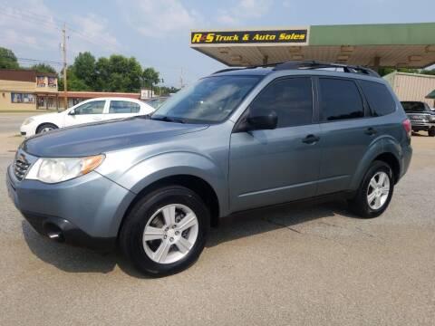 2010 Subaru Forester for sale at R & S TRUCK & AUTO SALES in Vinita OK