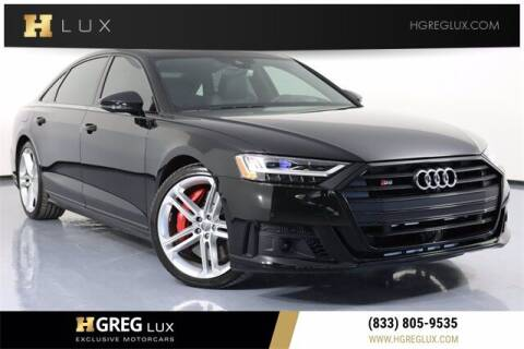 2020 Audi S8 for sale at HGREG LUX EXCLUSIVE MOTORCARS in Pompano Beach FL