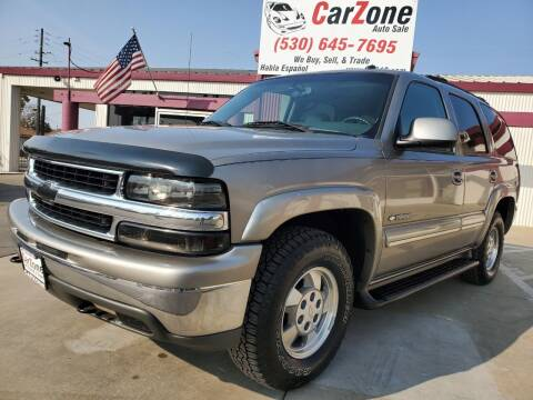2003 Chevrolet Tahoe for sale at CarZone in Marysville CA