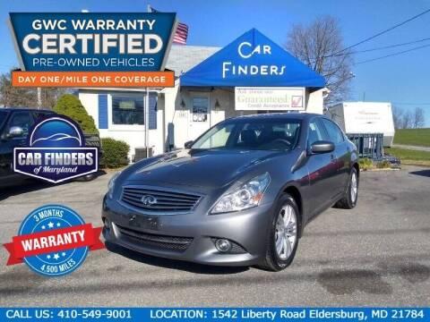 2013 Infiniti G37 Sedan for sale at CAR FINDERS OF MARYLAND LLC in Eldersburg MD