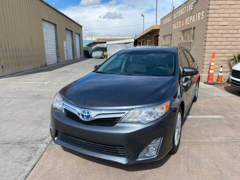 2014 Toyota Camry Hybrid for sale at CONTRACT AUTOMOTIVE in Las Vegas NV