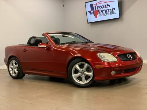 2002 Mercedes-Benz SLK for sale at Texas Prime Motors in Houston TX
