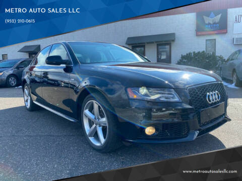 2012 Audi A4 for sale at METRO AUTO SALES LLC in Blaine MN