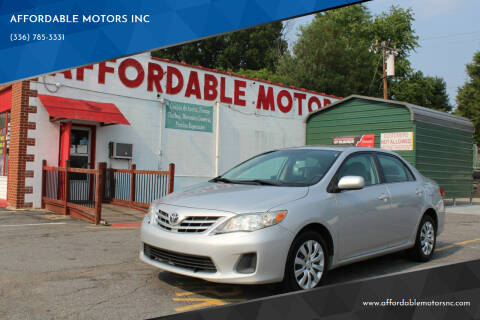2013 Toyota Corolla for sale at AFFORDABLE MOTORS INC in Winston Salem NC