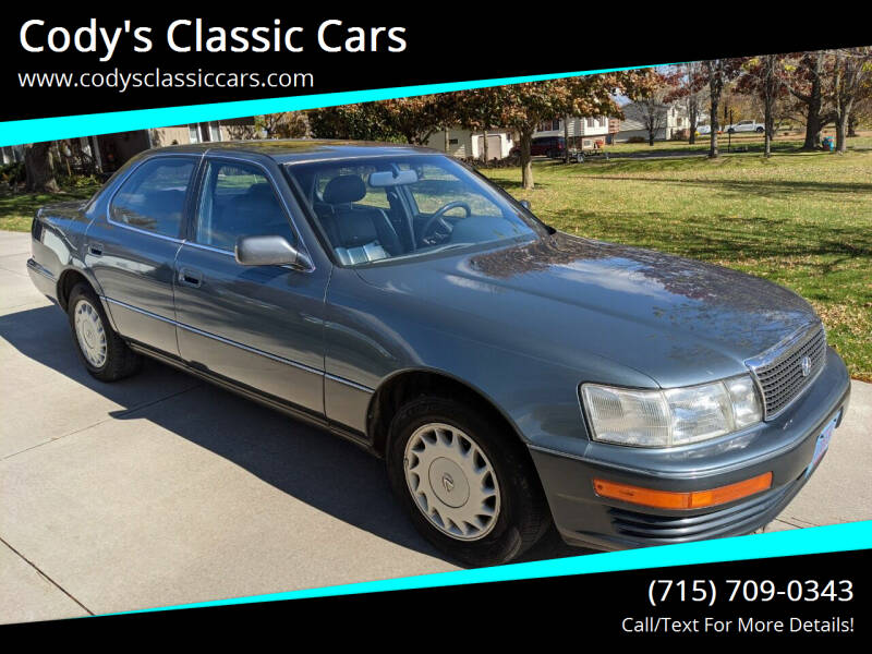 1990 Lexus LS 400 for sale at Cody's Classic Cars in Stanley WI