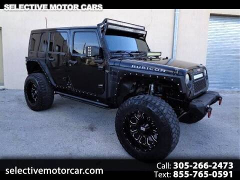 2014 Jeep Wrangler Unlimited for sale at Selective Motor Cars in Miami FL